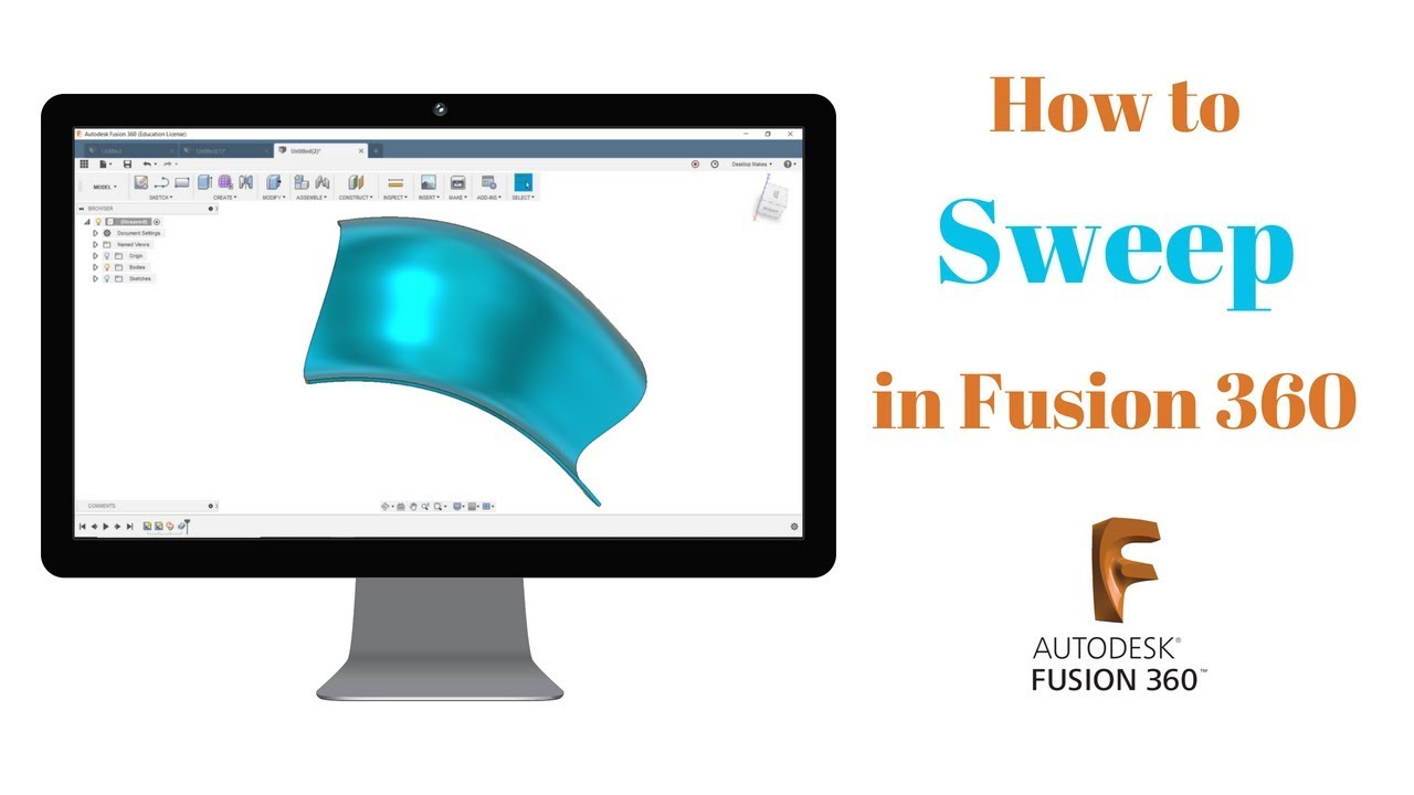 How to Sweep in Fusion 360