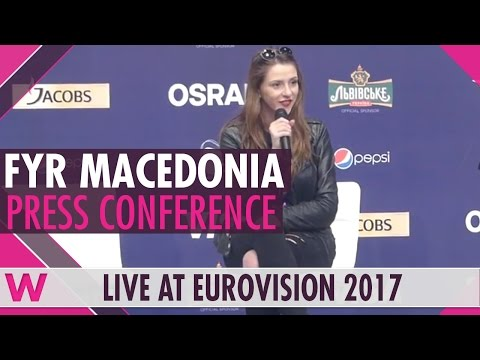 "FYR Macedonia Press Conference — Jana Burčeska ""Dance Alone"" Eurovision 2017 