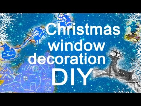 DIY. CHRISTMAS WINDOW DECORATION Toothpaste