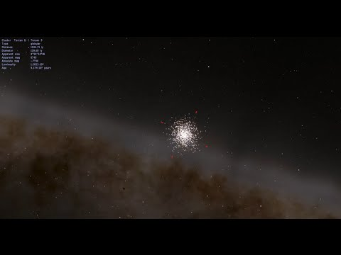 Zoom-in to Star Cluster Terzan 5 in Space Engine