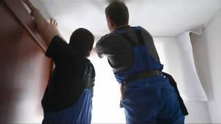 Установка тканевого натяжного потолка.(, 2011-11-22T12:36:01.000Z)