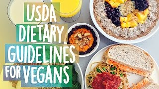 USDA Dietary Guidelines For Vegans : Meal Plan that meets all nutrient levels.