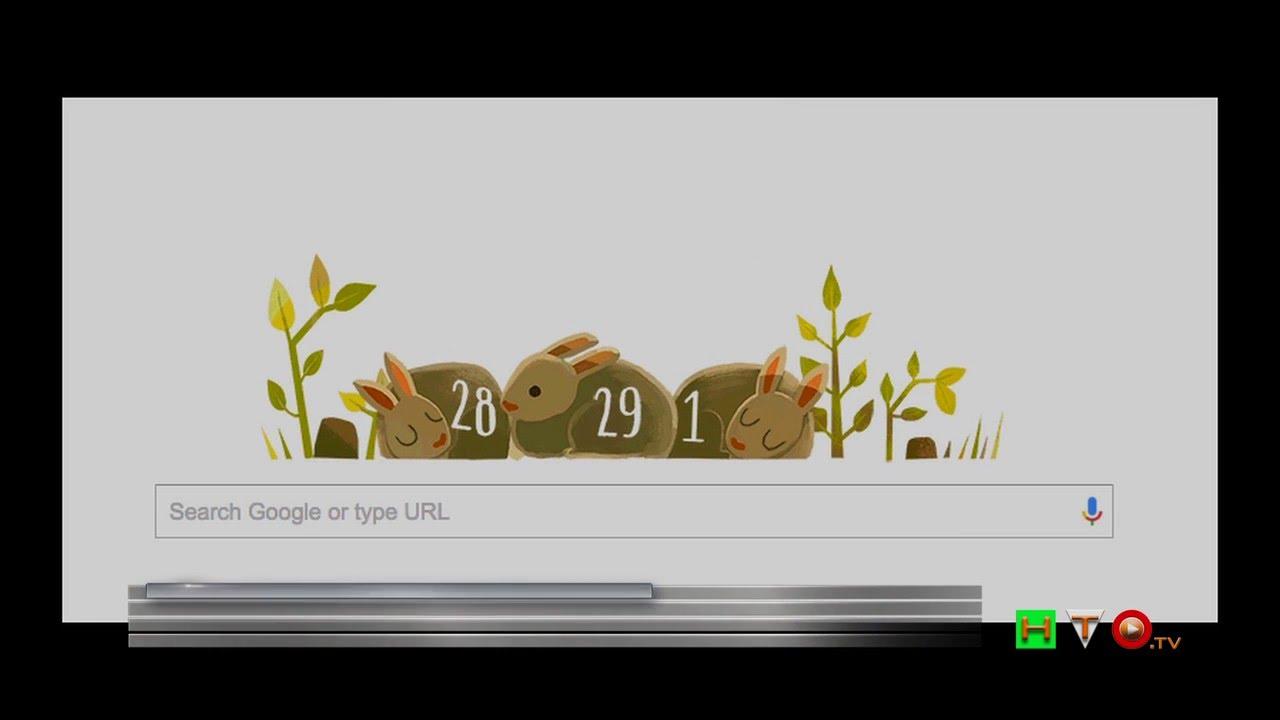 Google celebra el ao bisiesto con un doodle