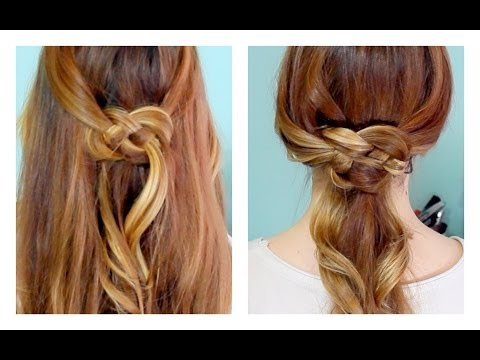 How to: Celtic Knot Half Updo and Ponytail