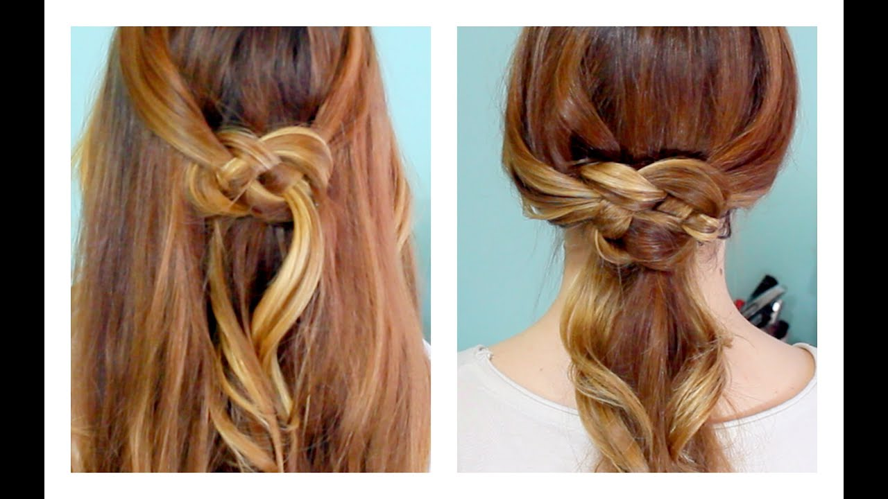 How to Celtic Knot  Half Updo  and Ponytail YouTube