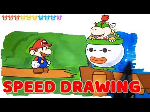super mario coloring pages bowser jr