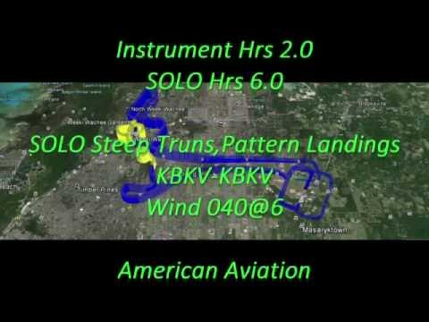 Jart Flight Training # 027 Solo Pratice Steep Turns Pattern Landings