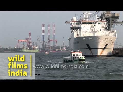 Cruise vessel in Cochin Port