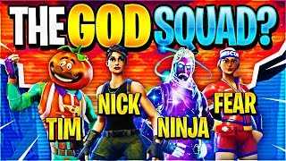 THE GOD SQUAD? (Feat. Ninja, Timthetatman, & Fearitself (Fortnite Battle Royale)