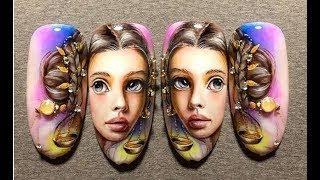 Дизайн Ногтей Лицо Девушки | Идеи за Маникюр Рисувани Лица Ideas for Manicure
