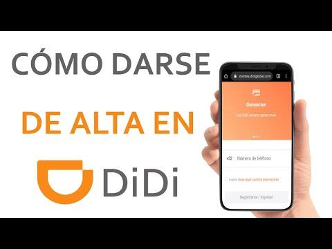 Cómo Darse de Alta en DIDI - Es Fácil Darme de Alta en DIDI