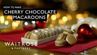 Cherry Chocolate Macaroons | Waitrose