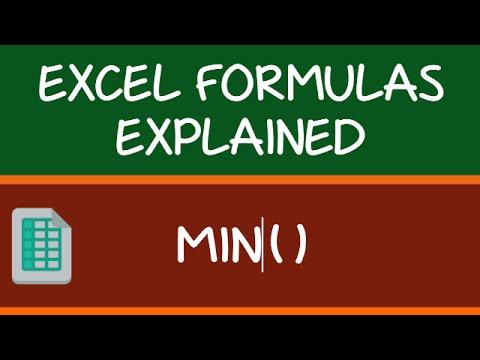 MIN Formula in Excel