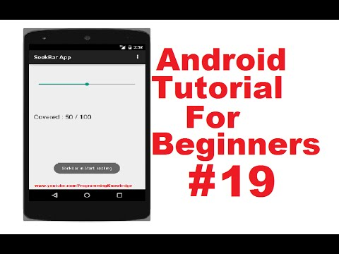 Android Tutorial for Beginners 19 # SeekBar