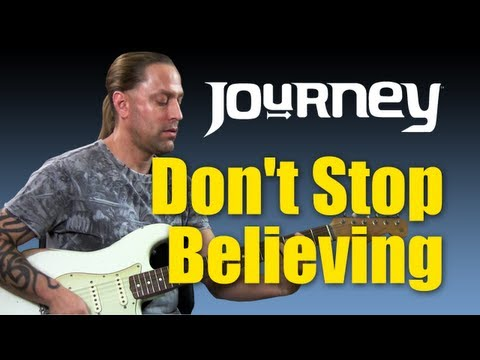 "Guitar Cover - Learn How to Play ""Don't Stop Believing"" By Journey (Guitar Lesson)"