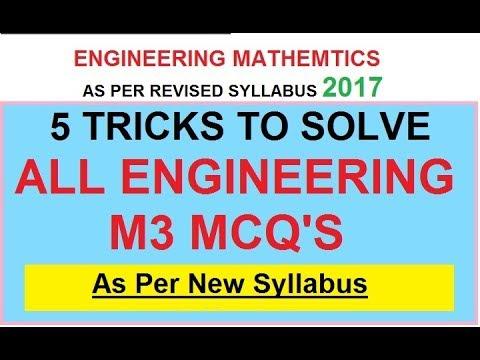 Engineering M3 MCQ Trick