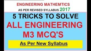 Engineering M3 MCQ Trick