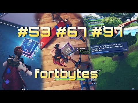Fortnite FORTBYTES #53 #67 #97 and The clock location challenges