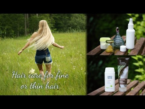 Hair care for fine and thin hair | long hair naturally - english video!