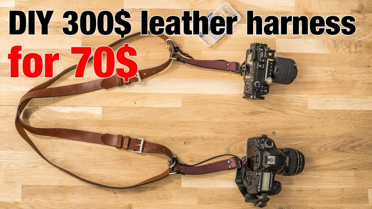 Making a 300$ leather harness for 70$ in 30mn (DIY EASY) using 2 belts