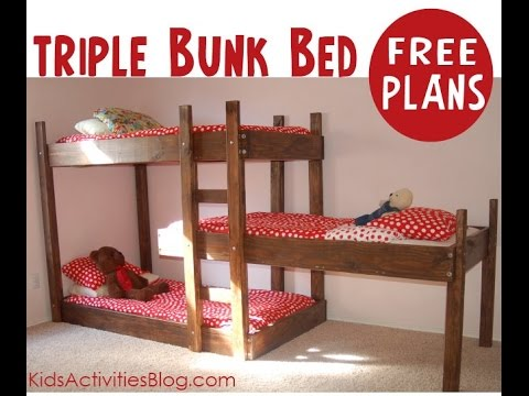 How to build triple layer bunk beds