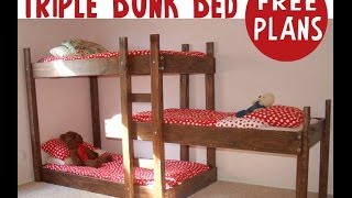 How To Build Triple Layer Bunk Beds.