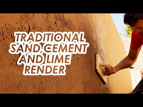 Traditional Sand, Cement and Lime Render - Garden Wall Rendering - External Plastering