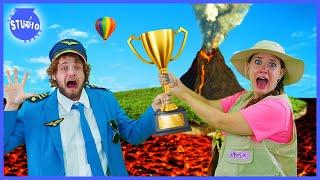 Trivia Race Around the World! Who Will Win?!