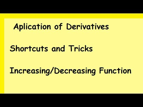 Applications of Derivatives : Increasing and Decreasing Functions : class 12 CBSE NCERT