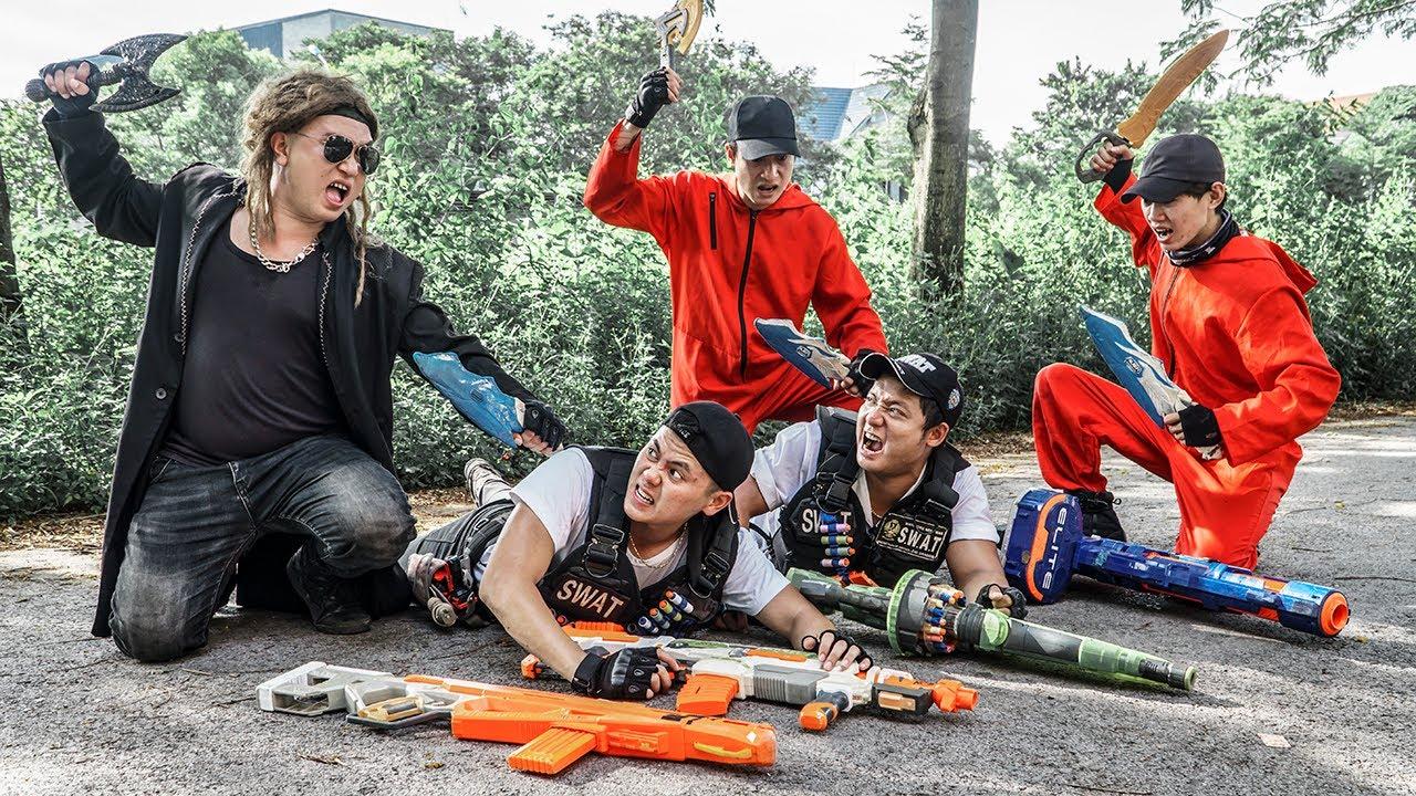 LTT Game Nerf War : Warriors SEAL X Nerf Guns Fight Rocket Crazy Escort Parcel To A Safe Place