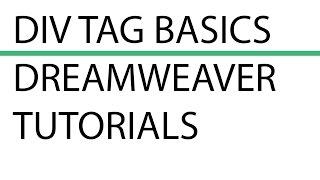 Div Tag Basics   How to insert Div Tags using Dreamweaver CC