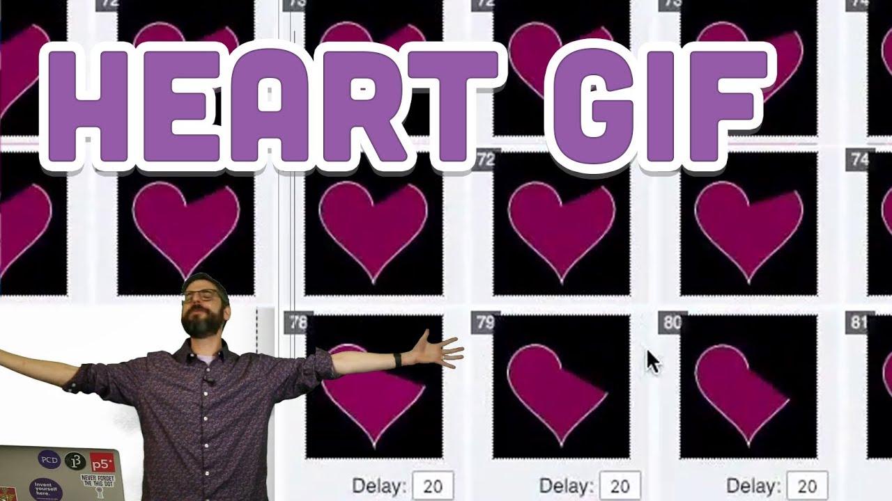 Coding Challenge #134 2: Heart Curve GIF Loop