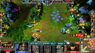 CLG (Doublelift Vayne) VS Coast (WizFujiiN Caitlyn) Highlights - NA LCS Spring 2014 W3D2
