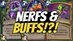 NERF DETAILS REVEALED!! AND A BUFF?? Altruis, Kael, Wild, & More!   Ashes of Outland   Hearthstone