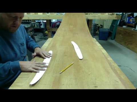 "How to build a hollow wood surfboard ""the template"""