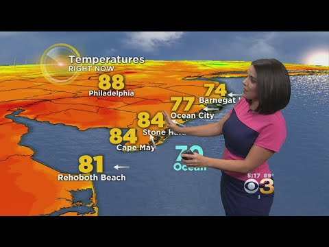 Wednesday Evening Weather Forecast: Mostly Cloudy With A Spotty Shower Or T-Storm; Low 71
