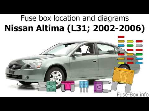 Fuse box location and diagrams: Nissan Altima (L31; 2002-2006 ... 2005 Altima Fuse Block Wiring Diagram YouTube