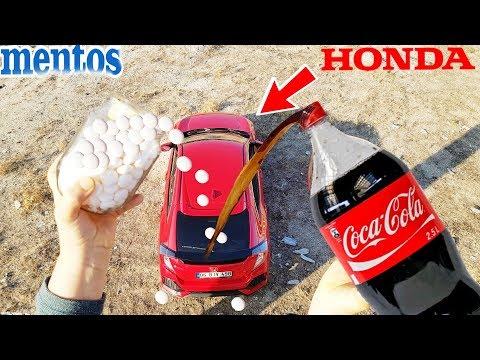 PRANK! COCA COLA AND MENTOS Joke VS CAR HONDA