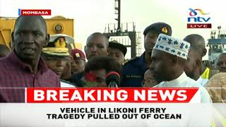 LIKONI FERRY: Family, leaders throw flowers into ocean as part of KDF ritual