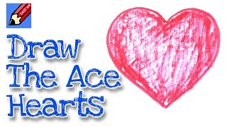 How to draw the Ace of Hearts real easy - for kids & beginners