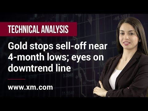 Technical Analysis: 22/04/2019 - Gold stops sell-off near 4-month lows; eyes on downtrend line