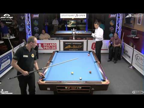 Stuttgart Open 2013, 11 Oliver Ortmann vs Stefan Künzl, 10-Ball, Pool-Billard, Cue Sports