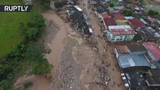 Footage shows aftermath of devastating mudslide in Colombia, which killed 154, injured 400