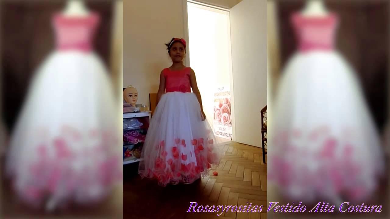 d5a76c10d Rosasyrositas vestido de petalos fucsia - YouTube