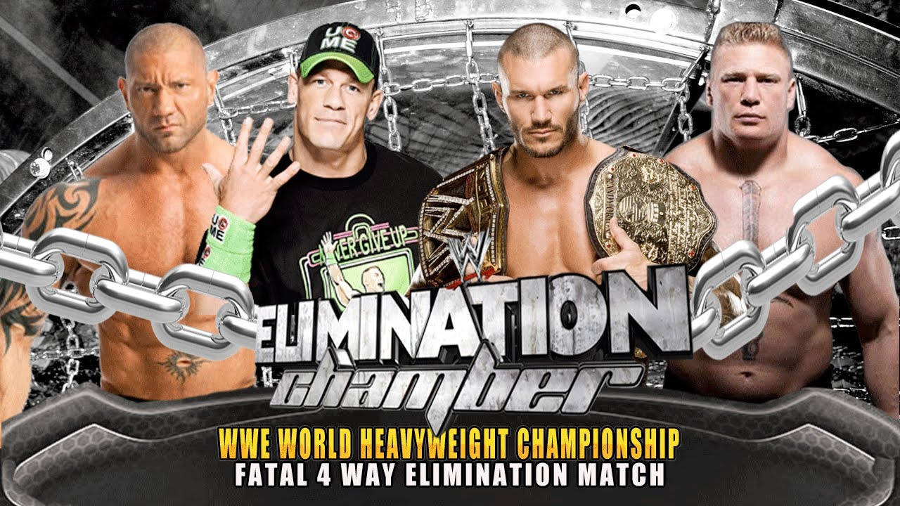 WWE Elimination Chamber 2014 John Cena Vs Randy Orton Batista Lesnar World Heavyweight