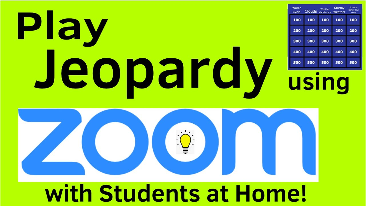 How To Play Jeopardy In Zoom Meetings With Students Youtube