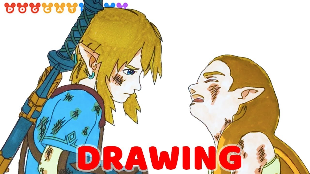 Speed Drawing The Legend Of Zelda Breath Of The Wild Drawing Coloring Pages Videos For Kids Youtube