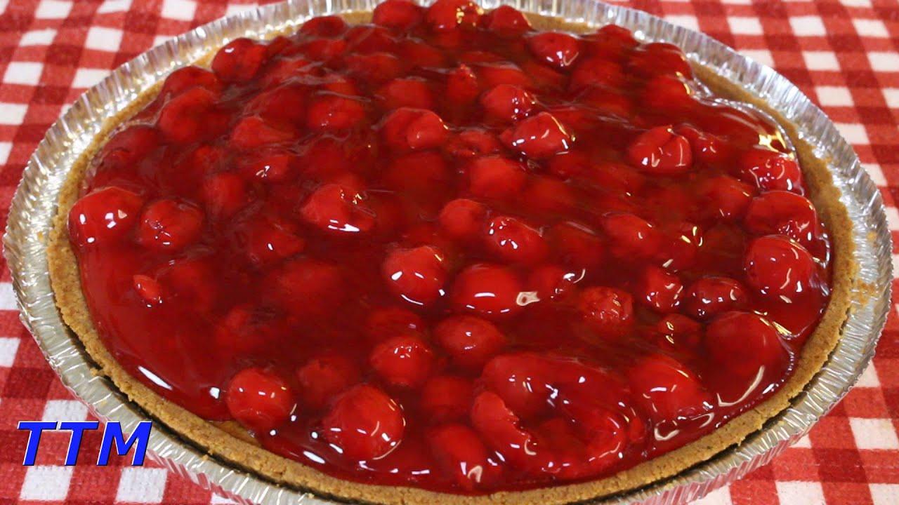 Easy Cherry Cheesecake Recipe Using A Pre Made Graham Cracker Pie Crust Youtube