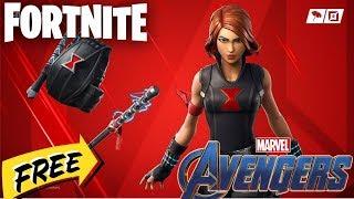 "Fortnite - ""Black Widow""   - Widow's bite - Widow's Pirouette (AVENGERS PACK FREE)"