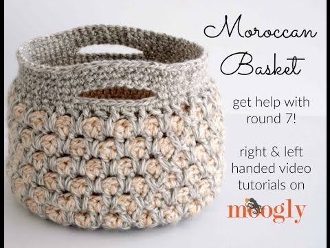 How To Crochet Moroccan Basket Right Handed Youtube